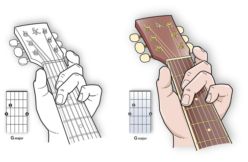 Guitar Chord Illustration